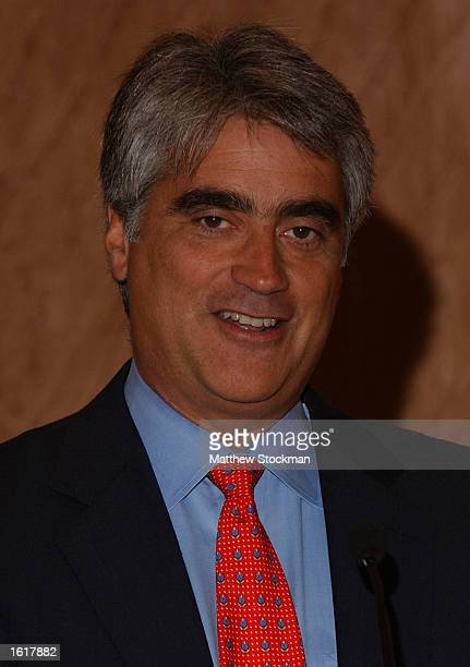 Mark Miles adresses journalists at a press conference entitled Growing Tennis In Asia during the Tennis Masters Cup November 13, 2002 at the Hilton...