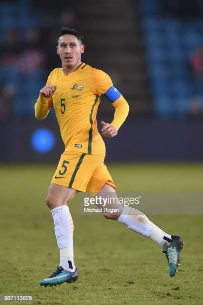 Mark Milligan of Australia in action during the International Friendly match between Norway and Australia at Ullevaal Stadion on March 23 2018 in...