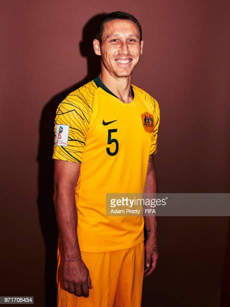 Mark Milligan of Australia poses for a portrait during the official FIFA World Cup 2018 portrait session at Trudovyne Rezeny on June 11 2018 in Kazan...