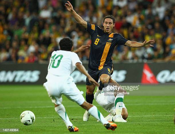 Mark Milligan of Australia runs with the ball during the Group D 2014 FIFA World Cup Asian Qualifier match between Australia and Saudi Arabia at AAMI...