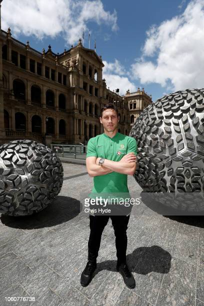 Mark Milligan poses during an Australian Socceroos media opportunity at Reddacliff Place on November 13 2018 in Brisbane Australia