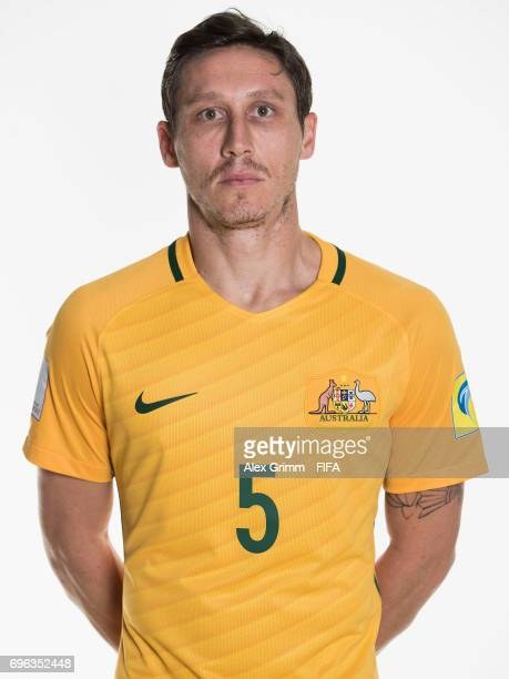 Mark Milligan poses for a picture during the Australia team portrait session on June 15 2017 in Sochi Russia