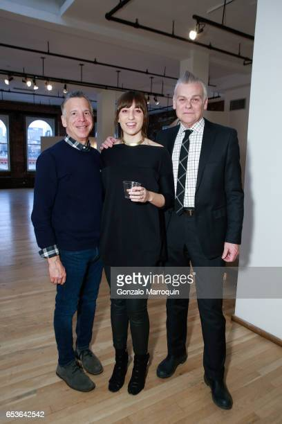 Mark Minichiello, Christy Rappold and Geordy Maish attended the Ralph Pucci Presents Richard Meier Lighting on March 15, 2017 in New York City.