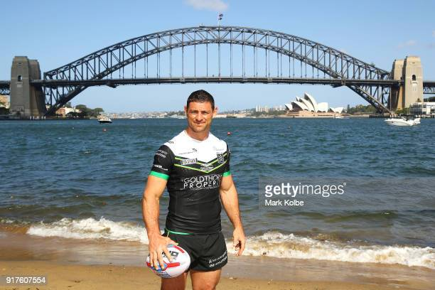 Mark Minichiello of Hull FC poses during a rugby league international double header media opportunity at Blues Point Reserve on February 13, 2018 in...