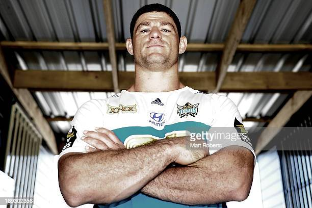 Mark Minichiello poses after a Gold Coast Titans NRL training session at Station Reserve on May 23, 2013 on the Gold Coast, Australia.