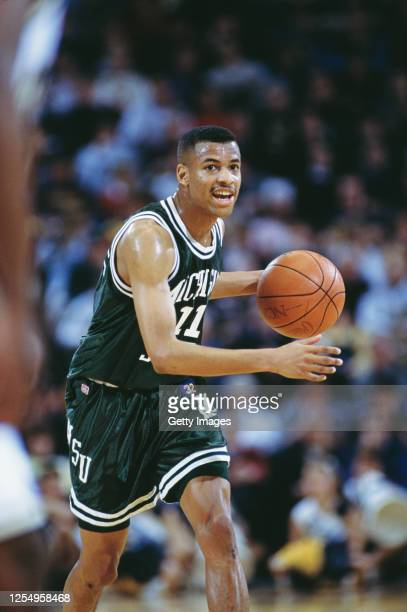 Mark Montgomery, Guard for the Michigan State Spartans during the NCAA Big-10 Conference college basketball game against the University of Michigan...