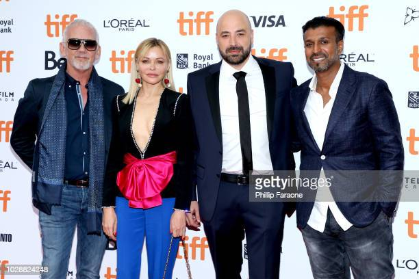 Mark Montgomery Natalya Pavchinskaya Anthony Maras and Joe Thomas attend the 'Hotel Mumbai' premiere during 2018 Toronto International Film Festival...
