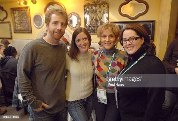 Mark Moran Molly Bennett Nancy Schreiber and Alexis Fish attend the SAG Indie Brunch at the Cafe Terigo during the 2008 Sundance Film Festival on...