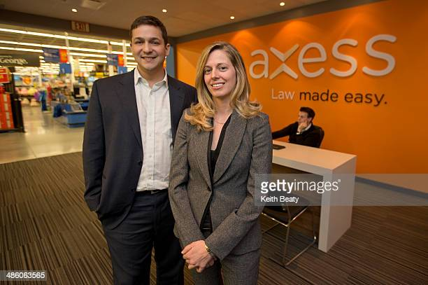 Mark Morris and Lena Koke partners at Axess Law which is in a Walmart in Markham April 4 2014