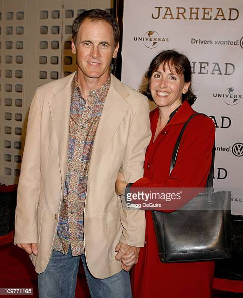 Mark Moses and guest during Universal Pictures' 'Jarhead' World Premiere Arrivals at Arclight Hollywood in Hollywood California United States