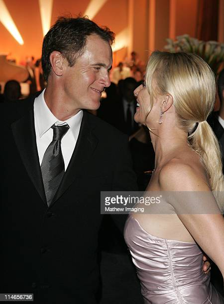 Mark Moses and Nicollette Sheridan during 57th Annual Primetime Emmy Awards Governors Ball at The Shrine in Los Angeles California United States