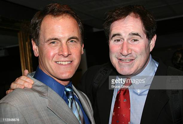 Mark Moses and Richard Kind during Opening Night of 'Burleigh Grimes' OffBroadway at New World Stages Theater Complex in New York City New York...