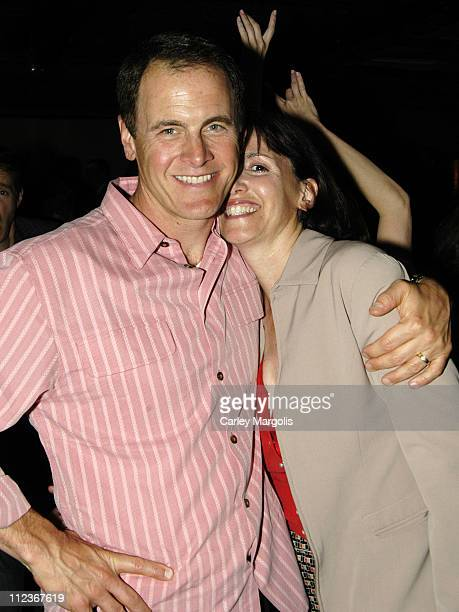 Mark Moses of 'Desperate Housewives' and guest during Celebrities in Town for UpFronts Attend Bunny Chow Tuesdays at Cain May 17 2005 at Cain in New...