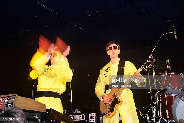 Mark Mothersbaugh and Bob Casale performing with Devo at the Bottom Line in New York City on October 18 1978