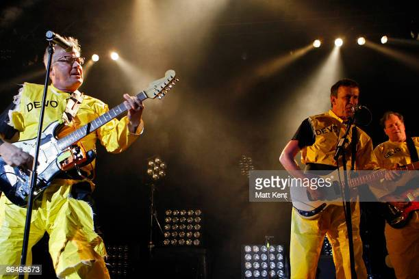 Mark Mothersbaugh and Bob Mothersbaugh of Devo perform at The Forum on May 6, 2009 in London, England.