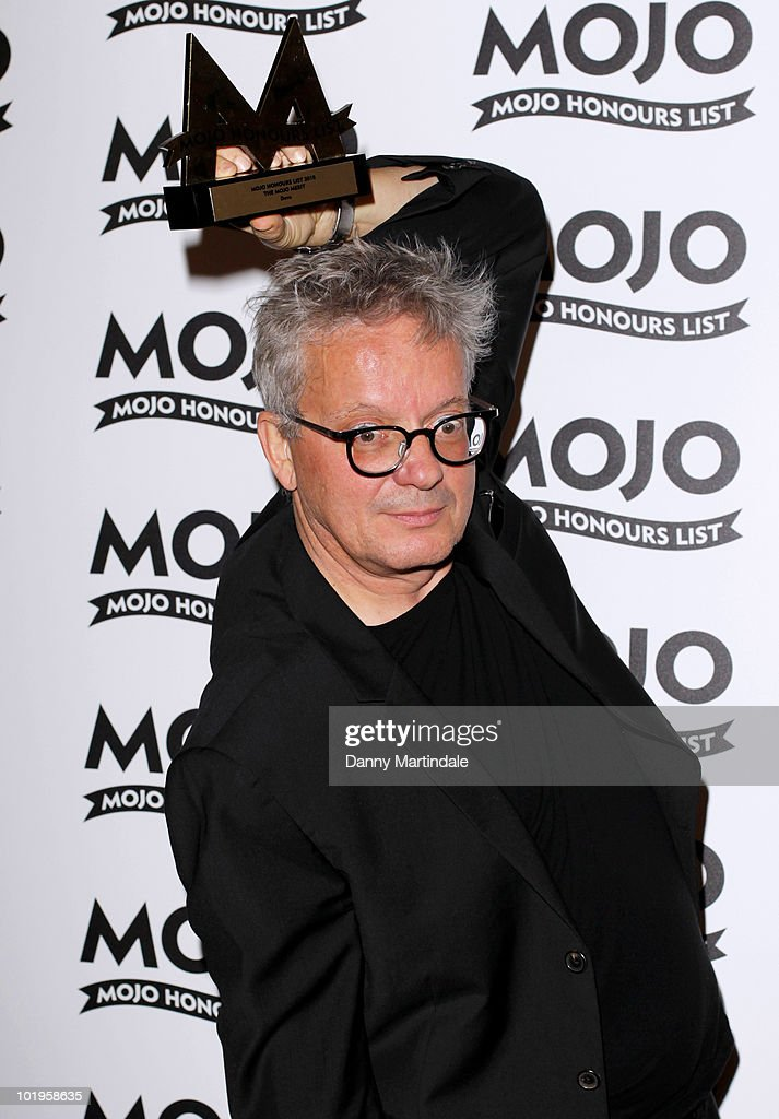 Mark Mothersbaugh from DEVO with award at The Mojo Honours List at The Brewery on June 10, 2010 in London, England.