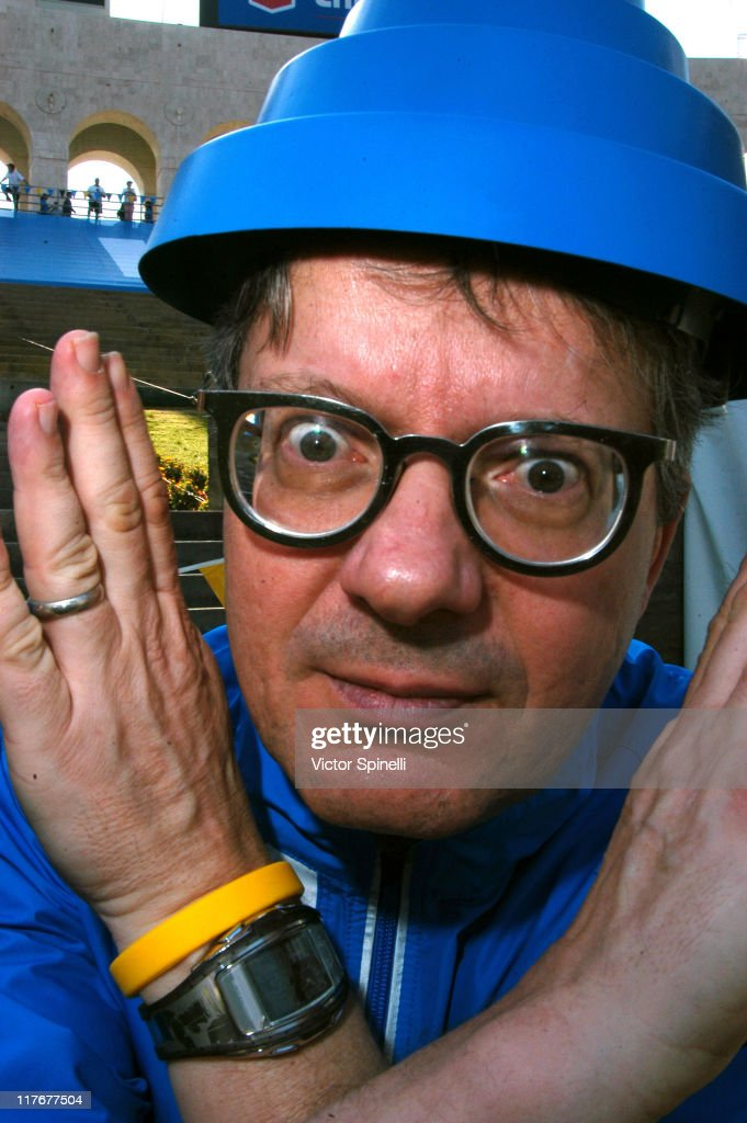Mark Mothersbaugh of DEVO during Nike's 2nd Annual Run Hit Wonder Race and DEVO Concert at Los Angeles Coliseum in Los Angeles, California, United States.