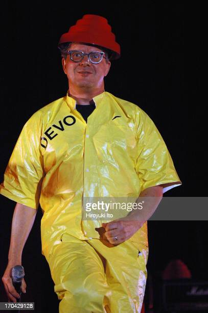 Mark Mothersbaugh of Devo performing at Central Park Summer Stage on Friday night July23 2004