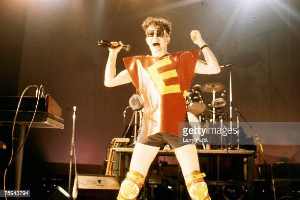 Mark Mothersbaugh of the punk new wave group 'Devo' performs onstage in circa 1979