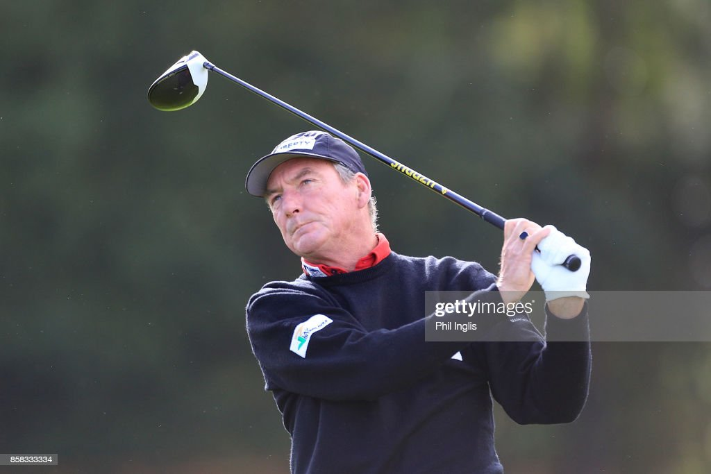 Mark Mouland of Wales in action during the first round of the Dutch Senior Masters played at The Dutch on October 6, 2017 in Spijk, Netherlands.
