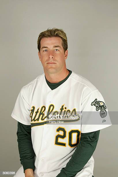 Mark Mulder of the Oakland Athletics poses for a portrait during the 2004 MLB Spring Training Photo Day at Phoenix Municipal Stadium on March 1 2004...