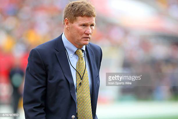 Mark Murphy CEO and President of the Packers walks across the field before the regular season game between the Green Bay Packers and the Tampa Bay...