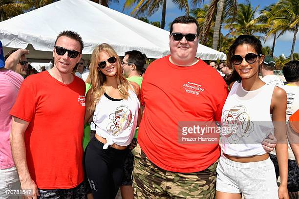 Mark Murphy Marloes Horst and Cris Urena attend Sports Illustrated Swimsuit Beach Volleyball Tournament on Ocean Drive at Miami Beach on February 20...