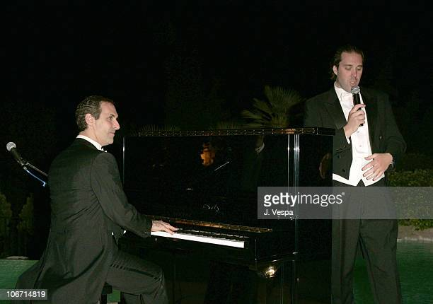 Mark Nadler and Michael De Vito during 2004 Cannes Film Festival Palisades Pictures and Movieline Hollywood Life Party at Private Residence in Cannes...