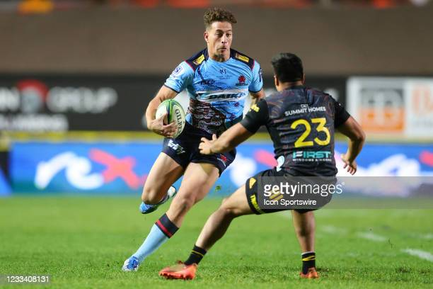Mark Nawaqanitawase of the Waratahs attacks during the round five Super Rugby Trans Tasman match between the NSW Waratahs and Chiefs at Brookvale...