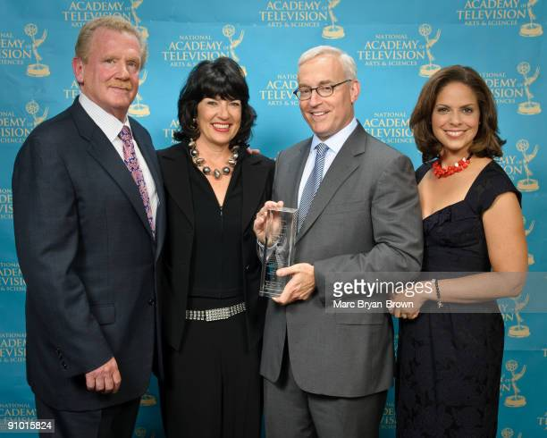 Mark Nelson, Christiane Amanpour, Soledad O'Brien and Jon Klein attend the 30th annual News & Documentary Emmy Awards at Frederick P. Rose Hall, Jazz...