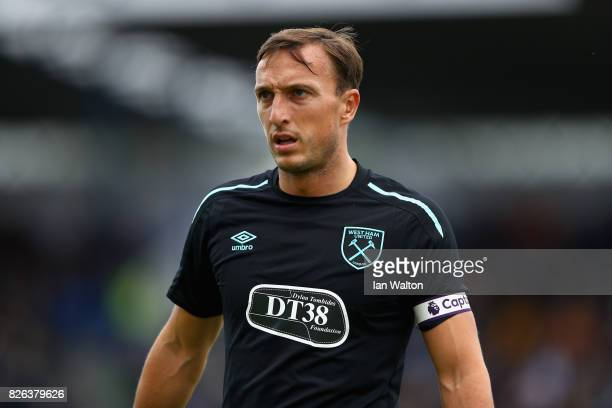 Mark Noble of West Ham United looks on during a Pre Season Friendly between Manchester City and West Ham United at the Laugardalsvollur stadium on...