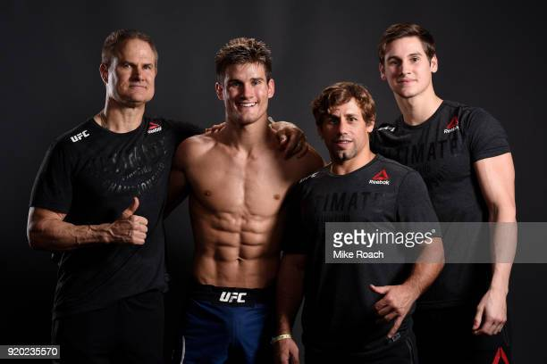 Mark Northcutt Sage Northcutt UFC Hall of Fame Urijah Faber and Shaun Northcutt pose for a post fight portrait backstage during the UFC Fight Night...