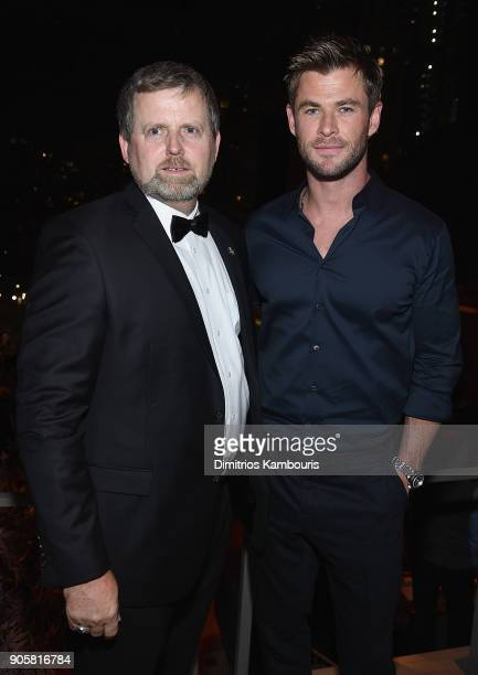 "Mark Nutsch and Chris Hemsworth attend The ""12 Strong"" World Premiere after party on January 16, 2018 in New York City."