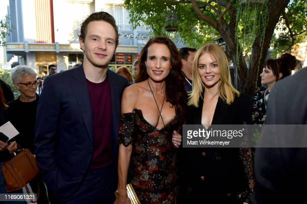 Mark O'Brien Andie MacDowell and Samara Weaving attend the LA Screening Of Fox Searchlight's Ready Or Not at ArcLight Culver City on August 19 2019...