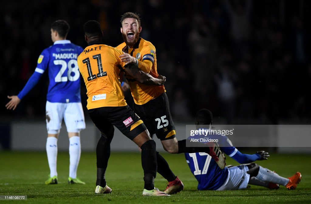 Newport County v Oldham Athletic - Sky Bet League Two : News Photo