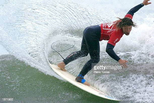 Mark Occhilupo of Australia in action during round two of the Boost Mobile Pro held at Lower Trestles San Clemente on September 6 2002 Occhilupo...