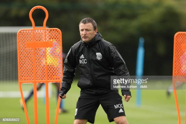 Mark O'Connor Assistant Head Coaches of West Bromwich Albion during a training session on August 3 2017 in West Bromwich England