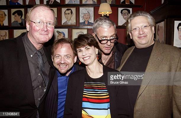 Mark O'Donnell Marc Shaiman Producer Margo Lion Scott Wittman and Harvey Fierstein all of Hairspray
