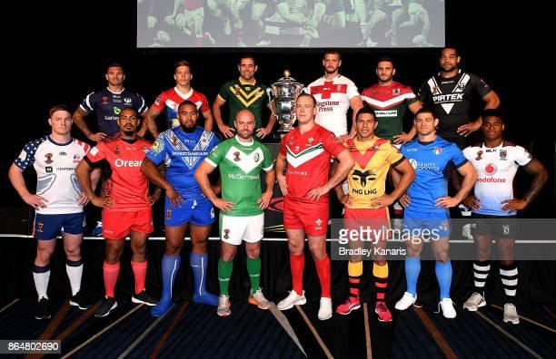 Mark Offerdahl of USA, Danny Brough of Scotland, Sika Manu of Tonga, Theo Fages of France, Frank Pritchard of Samoa, Liam Finn of Ireland, Cameron...