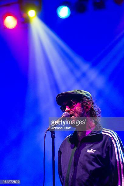 Mark Oliver Everett of Eels performs on stage at Brixton Academy on March 21 2013 in London England