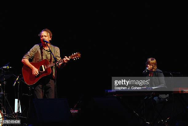 Mark Olson and Karen Grotberg of The Jayhawks performs at The Brown Theatre on October 14 2011 in Louisville Kentucky