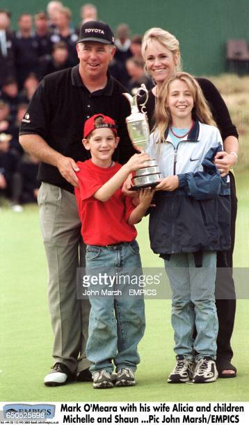 Mark O'Meara with his wife Alicia and children Michelle and Shaun