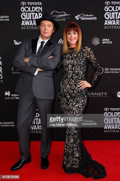 Mark O'Shea and Jay O'Shea arrive at the 2018 Toyota Golden Guitar Awards on January 27 2018 in Tamworth Australia