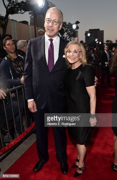 Mark Ostroff and Dawn Ostroff Producer and President Conde Nast Entertainment attend the premiere of Columbia Pictures' Only The Brave at the Regency...