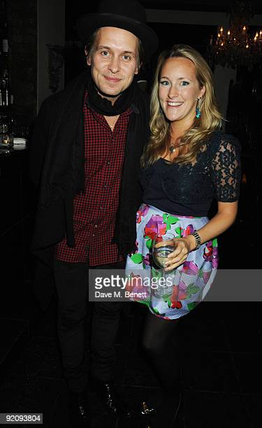 Mark Owen and Katie Banks attend the afterparty following the press night of The Rise And Fall Of Little Voice at Jewell on October 20 2009 in London...
