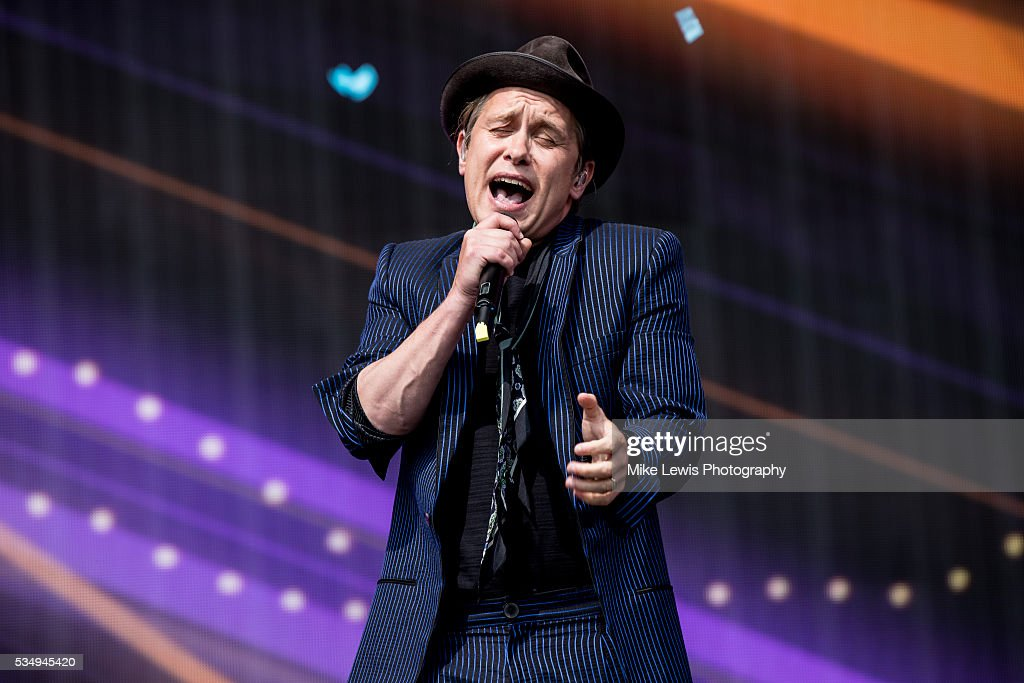 Mark Owen from Take That performs with Sigma at Powderham Castle on May 28, 2016 in Exeter, England.