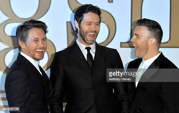 Mark Owen Howard Donald and Gary Barlow from Take That attend the World Premiere of 'Kingsman The Secret Service' at Odeon Leicester Square on...