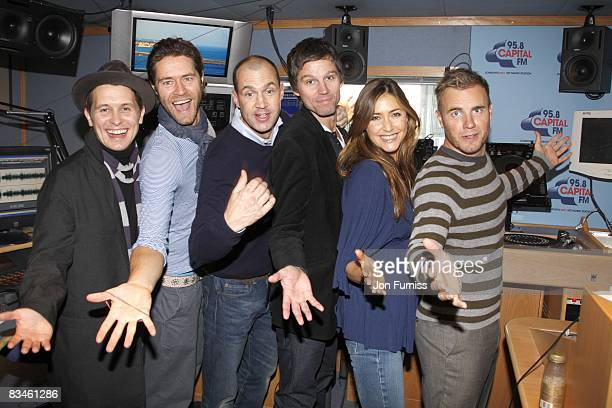 COVERAGE** Mark Owen Howard Donald Jason Orange and Gary Barlow of Take That visit Johnny Vaughan Lisa Snowdon and the morning show team on Capital...