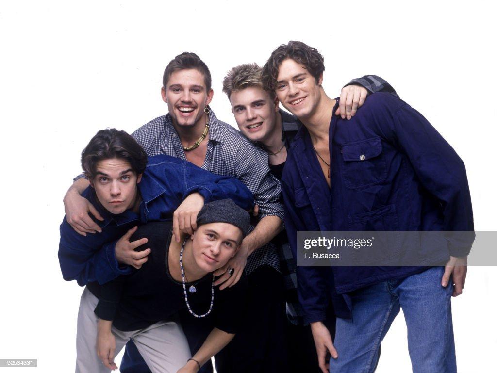 Mark Owen, Robbie Williams, Jason Orange, Gary Barlow and Howard Donald of Take That