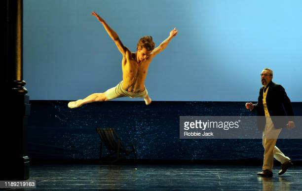 Mark Padmore as Gustav von Aschenbach and Leo Dixon as Tadzio in The Royal Opera's Production of Benjamin Britten's Death In Venice directed by David...